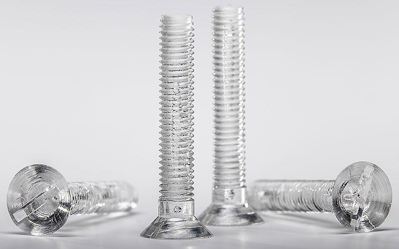 Schrauben aus Acrylglas